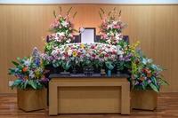 家族葬プラン 生花祭壇